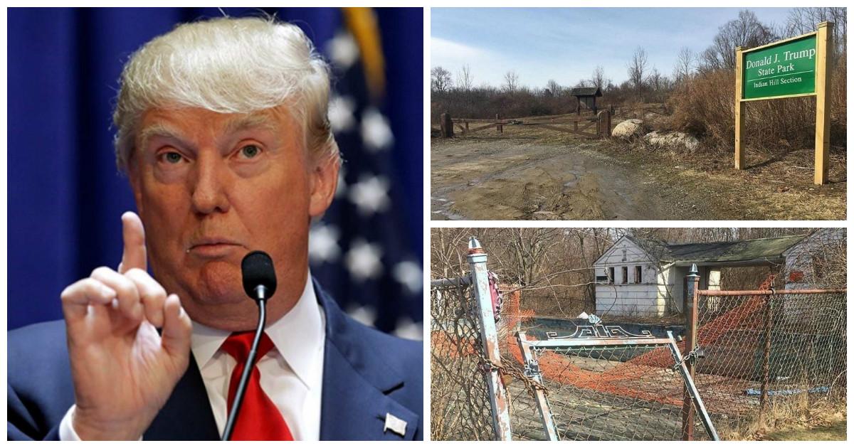 У Дональда Трампа уже есть свой парк, только с бурьяном и лужами