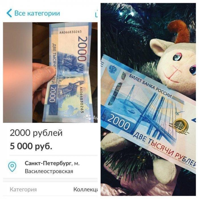 Продам 2000 рублей за 5000 рублей: новые купюры вызвали ажиотаж и неразбериху