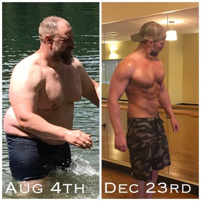 Пытайтесь это повторить! Многодетный отец за полгода сбросил 37 килограммов
