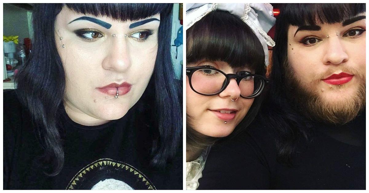 Влюбившись в модель женщина с гормональным расстройством перестала сбривать бороду
