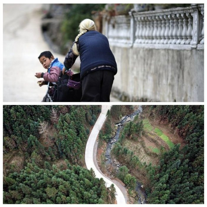 Китайская бабушка каждый день проходит по 24 километра, чтобы отвезти внука-инвалида в школу