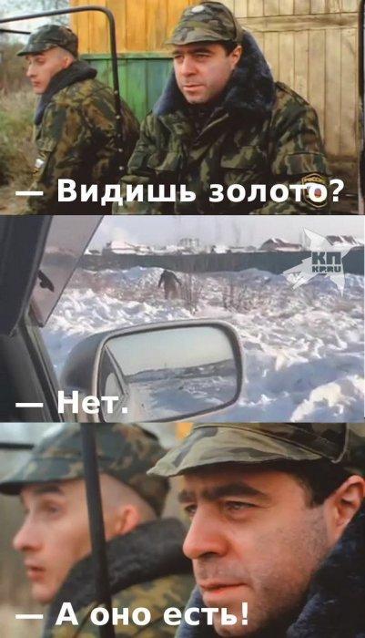 Реакция соцсетей на золотой дождь в Якутске
