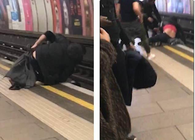 В Лондоне двое пьяных упали под поезд метро: видео