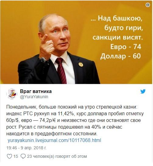 Новые санкции, разорение олигархов и последовавшая за этим реакция интернета