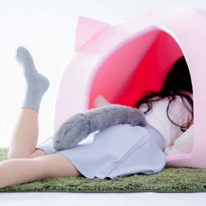 Почувствуй себя котэ! Японцы создают кошачьи домики для людей