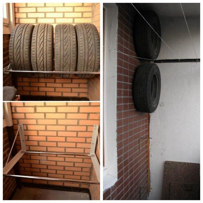 Лучшие способы хранения зимней резины дома