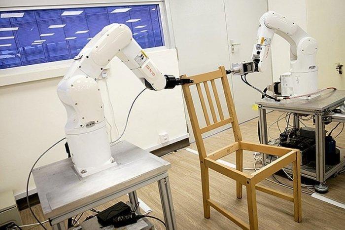 Это прорыв: роботы самостоятельно собрали стул IКЕА