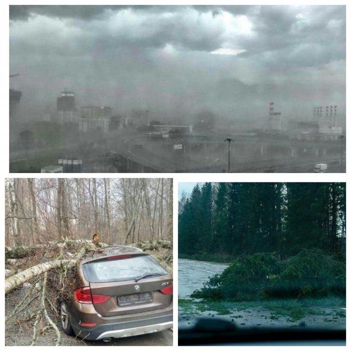 Москва отходит от сильнейшего урагана, есть жертвы