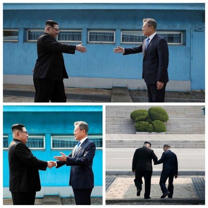 Ким Чен Ын впервые в истории ступил на землю Южной Кореи