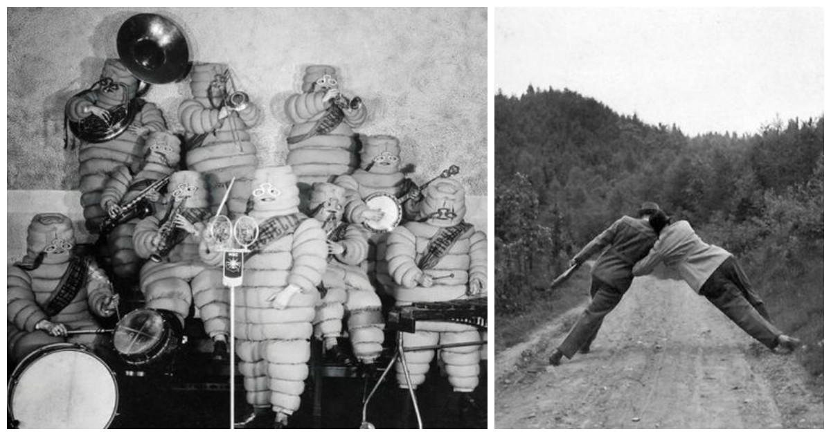 Странные черно-белые фото из прошлого