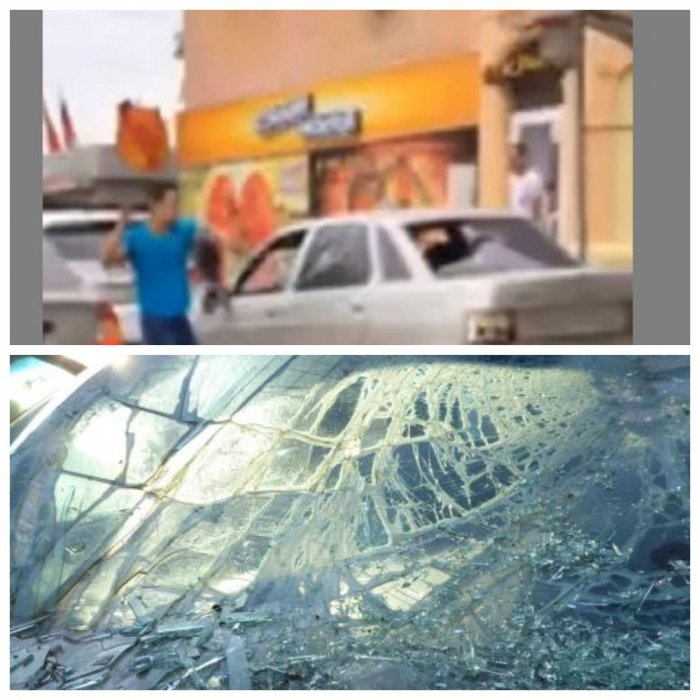 В Ростове разъяренный мужчина изничтожил чужую машину нунчаками