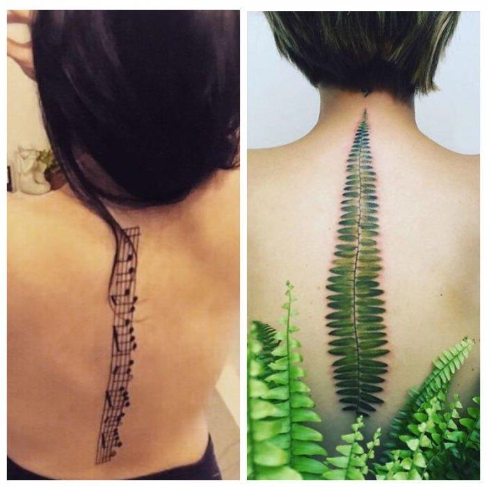 Спина как полотно: оригинальные татуировки на позвоночнике