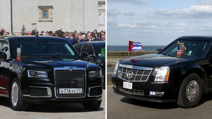 """""""Кортеж"""" против """"Зверя"""": американцы сравнили лимузины Путина и Трампа"""