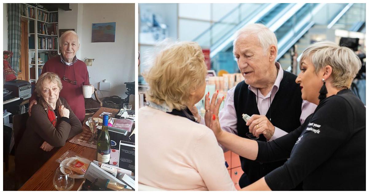 Чувства проверенные временем: муж учится наносить макияж слепнущей жене