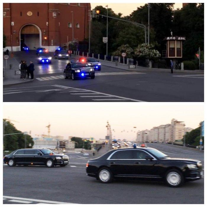 Выезд кортежа Путина из Кремля: видео