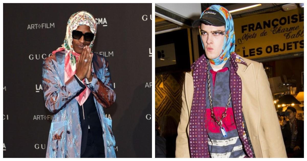 Бабушкин платок неожиданно стал стильным и молодежным аксессуаром